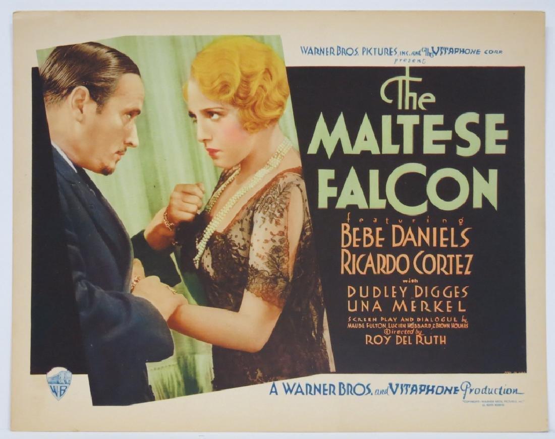 THE MALTESE FALCON TITLE LOBBY CARD WARNER BROS. 1931