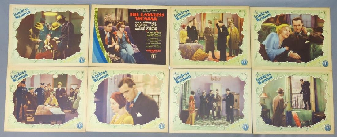 THE LAWLESS WOMAN LOBBY CARD SET