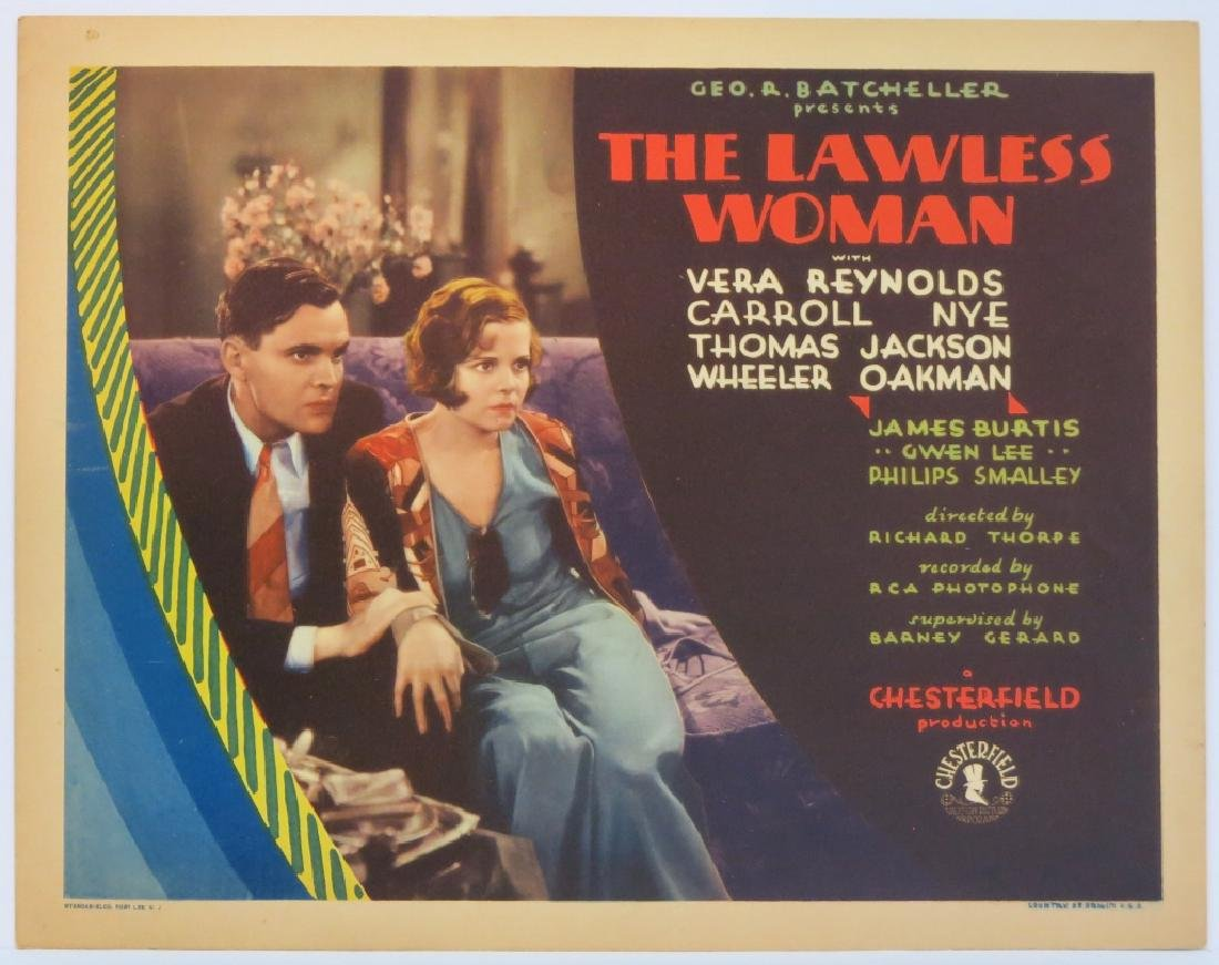 THE LAWLESS WOMAN LOBBY CARD SET - 2