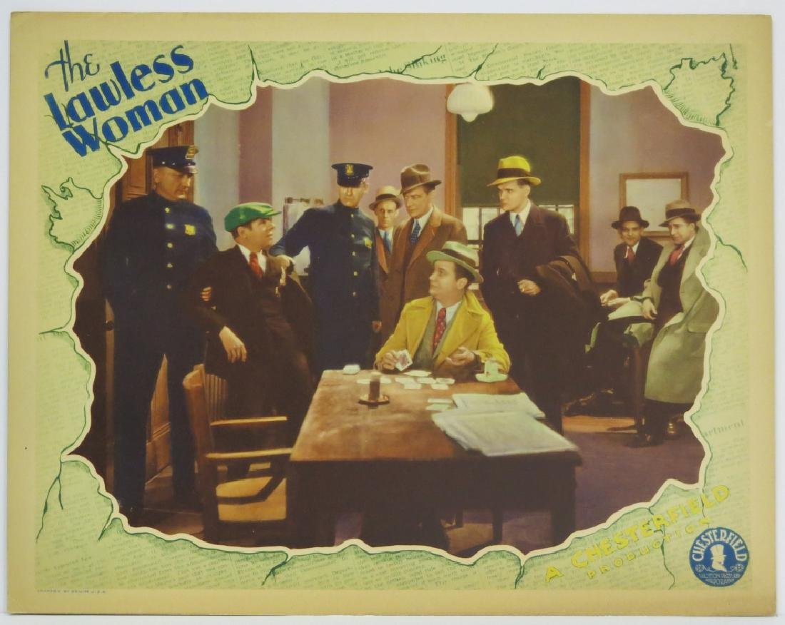 THE LAWLESS WOMAN LOBBY CARD SET - 3