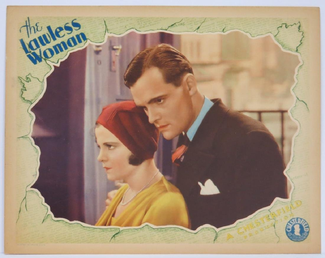THE LAWLESS WOMAN LOBBY CARD SET - 4