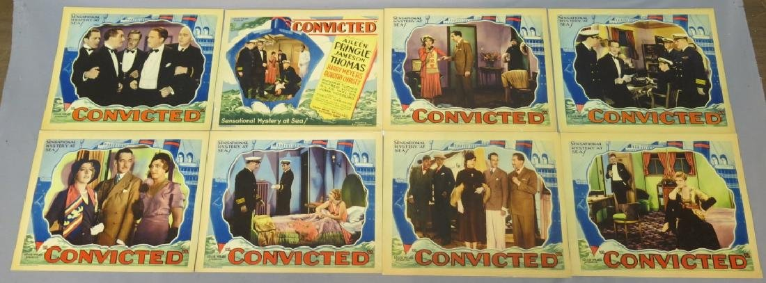 CONVICTED LOBBY CARD SET CHRISTY CABANNE DIRECTS