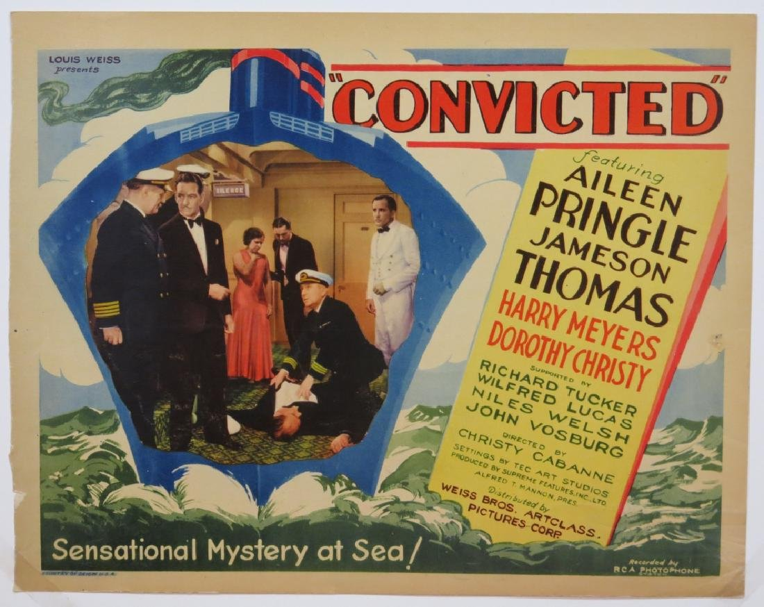 CONVICTED LOBBY CARD SET CHRISTY CABANNE DIRECTS - 2