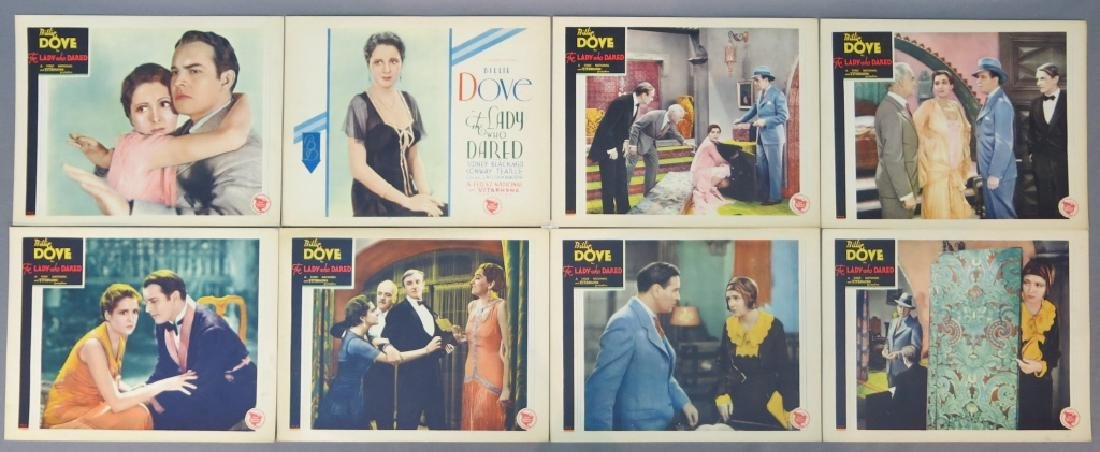 THE LADY WHO DARED LOBBY CARD SET WARNER BROS 1931