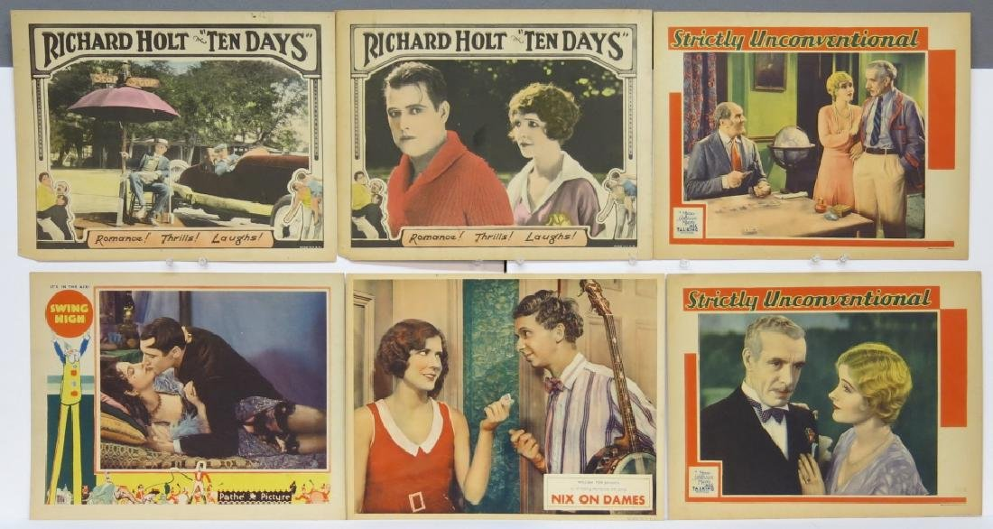 LOT OF 12 PRECODE MOVIE LOBBY CARDS