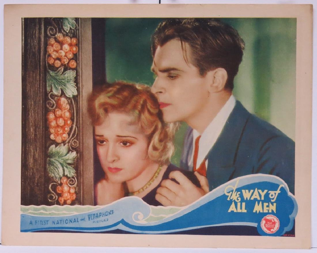 THE WAY OF ALL MEN LOBBY CARD- FIRST NATIONAL 1930