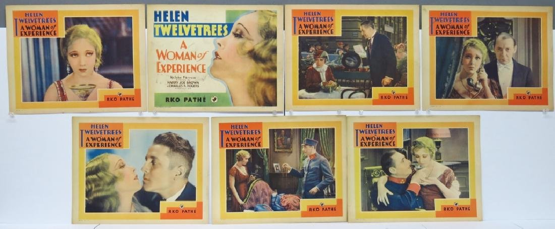 SEVEN WOMAN OF EXPERIENCE LOBBY CARDS, RKO 1931