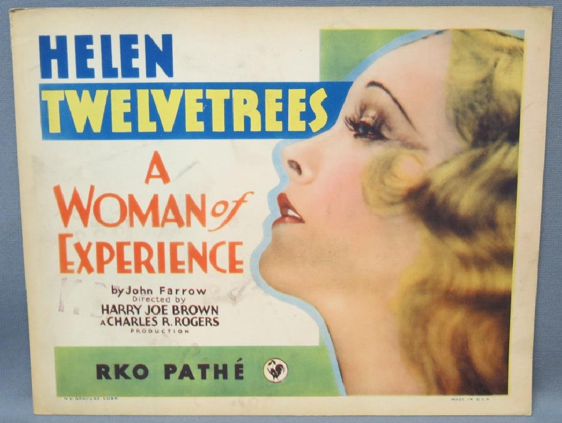 SEVEN WOMAN OF EXPERIENCE LOBBY CARDS, RKO 1931 - 2