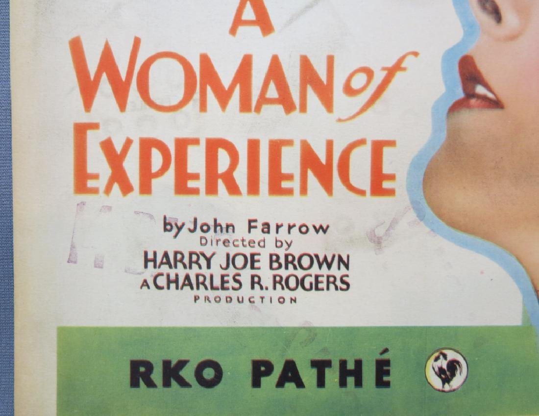 SEVEN WOMAN OF EXPERIENCE LOBBY CARDS, RKO 1931 - 3