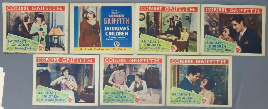 SEVEN SATURDAY'S CHILDREN LOBBY CARDS 1929