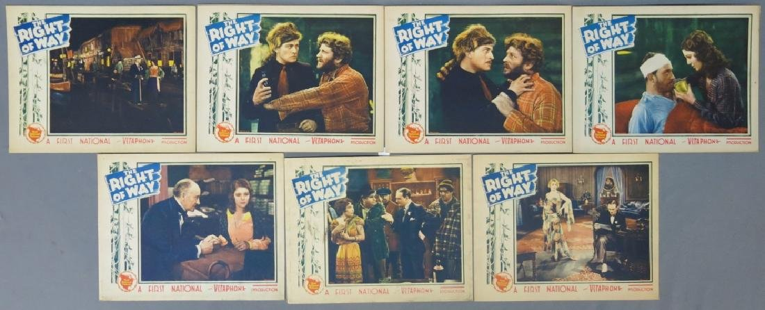 SEVEN RIGHT OF WAY LOBBY CARDS