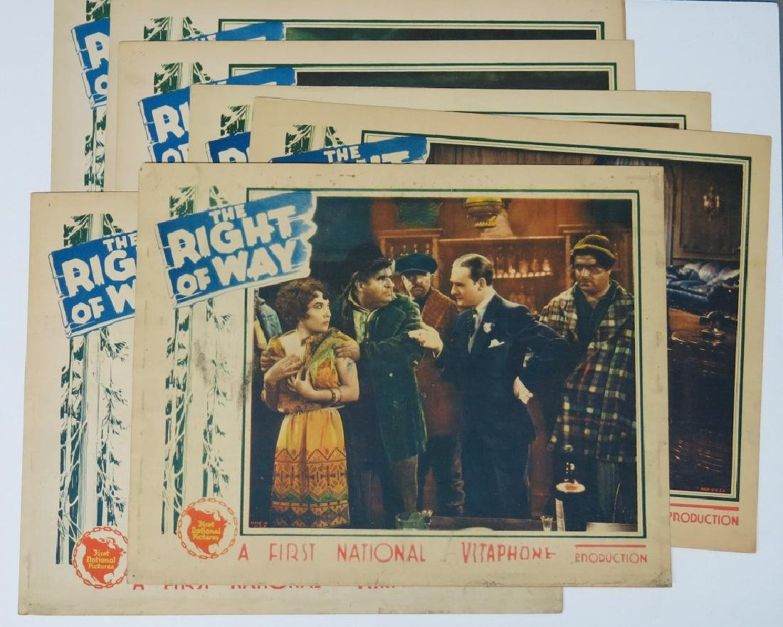 SEVEN RIGHT OF WAY LOBBY CARDS - 2