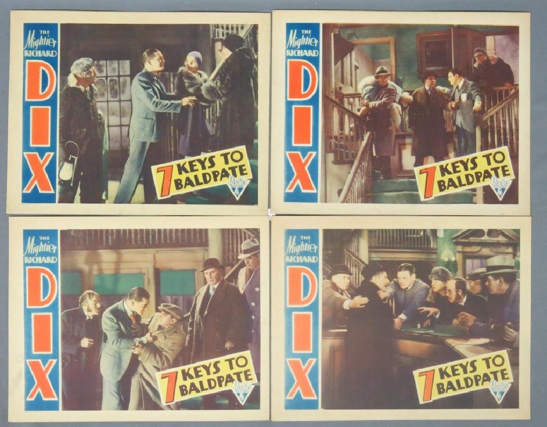 FOUR -  SEVEN KEYS TO BALDPATE LOBBY CARDS