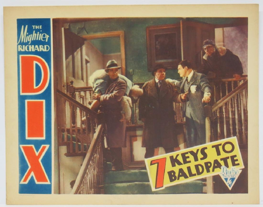 FOUR -  SEVEN KEYS TO BALDPATE LOBBY CARDS - 3