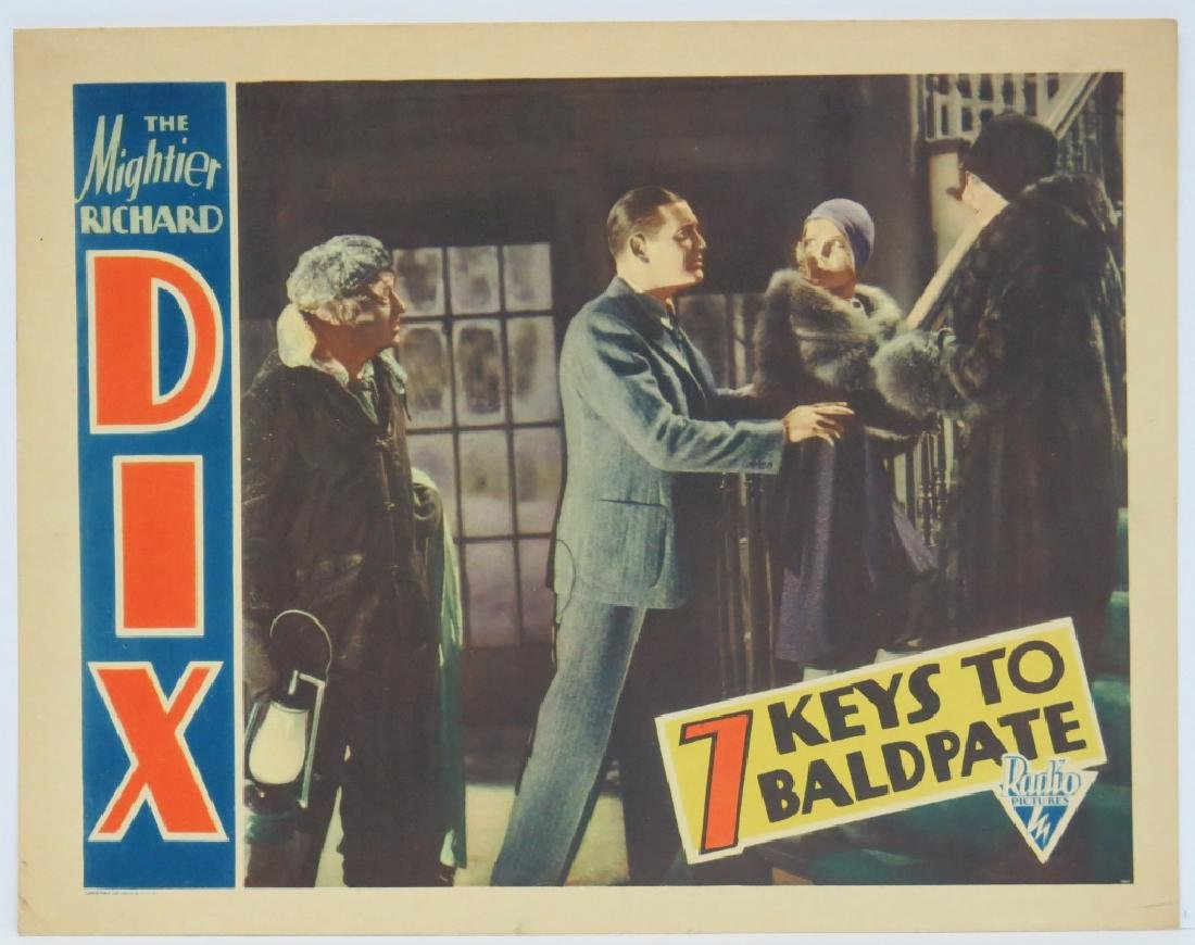FOUR -  SEVEN KEYS TO BALDPATE LOBBY CARDS - 4