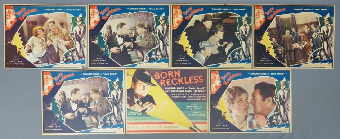 BORN RECKLESS LOBBY CARD SET - JOHN FORD 1930