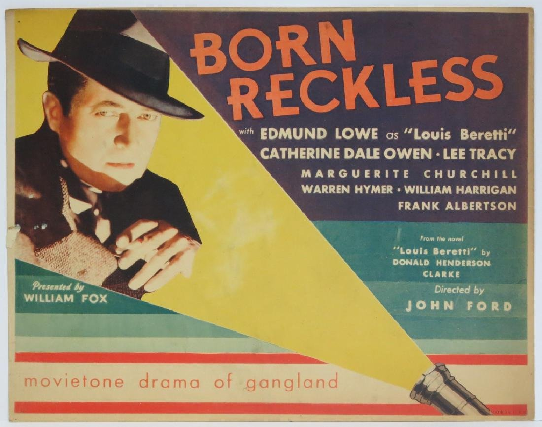 BORN RECKLESS LOBBY CARD SET - JOHN FORD 1930 - 2