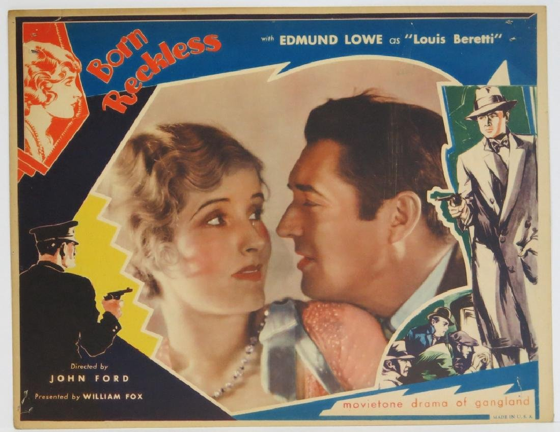 BORN RECKLESS LOBBY CARD SET - JOHN FORD 1930 - 3