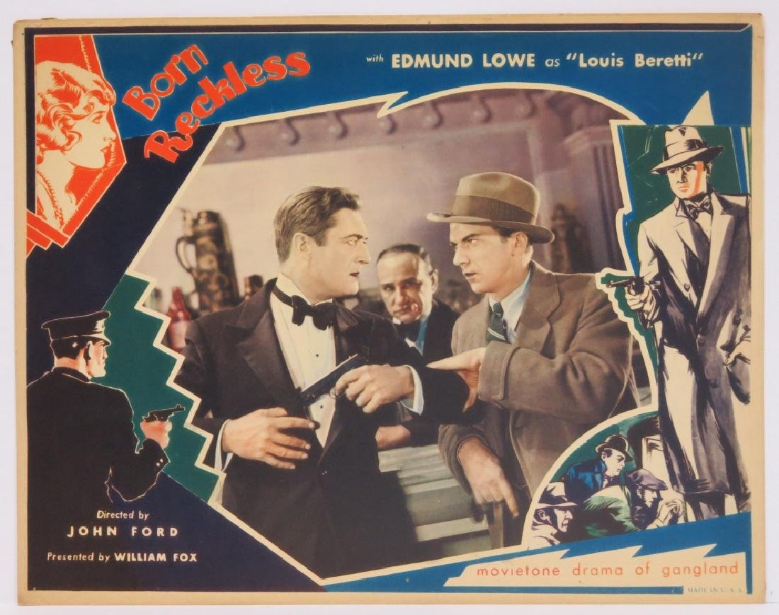 BORN RECKLESS LOBBY CARD SET - JOHN FORD 1930 - 4