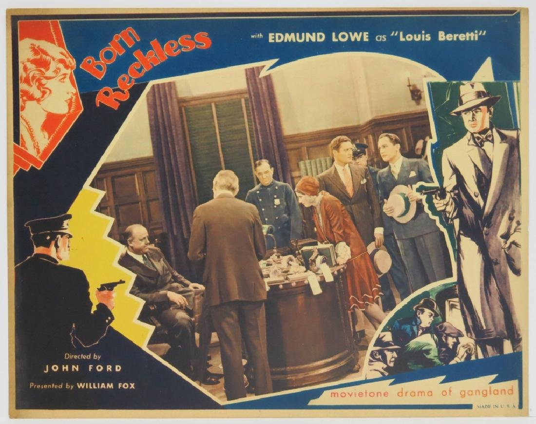 BORN RECKLESS LOBBY CARD SET - JOHN FORD 1930 - 5