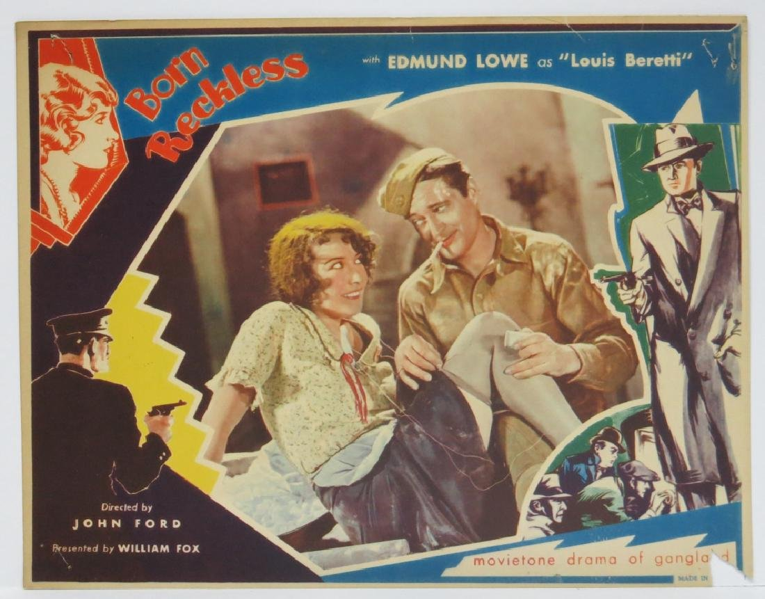 BORN RECKLESS LOBBY CARD SET - JOHN FORD 1930 - 6