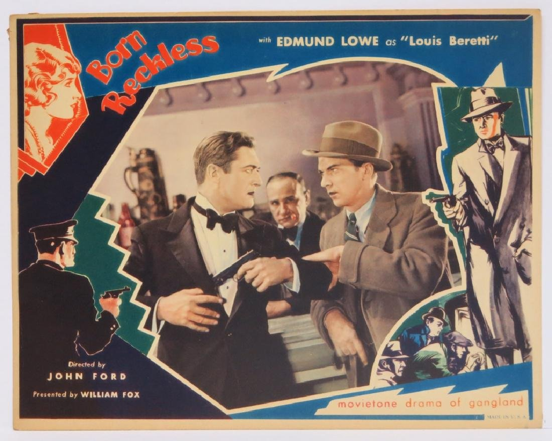 BORN RECKLESS LOBBY CARD SET - JOHN FORD 1930 - 7