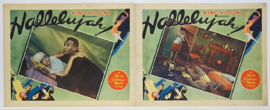TWO HALLELUJAH! LOBBY CARDS - MGM 1929