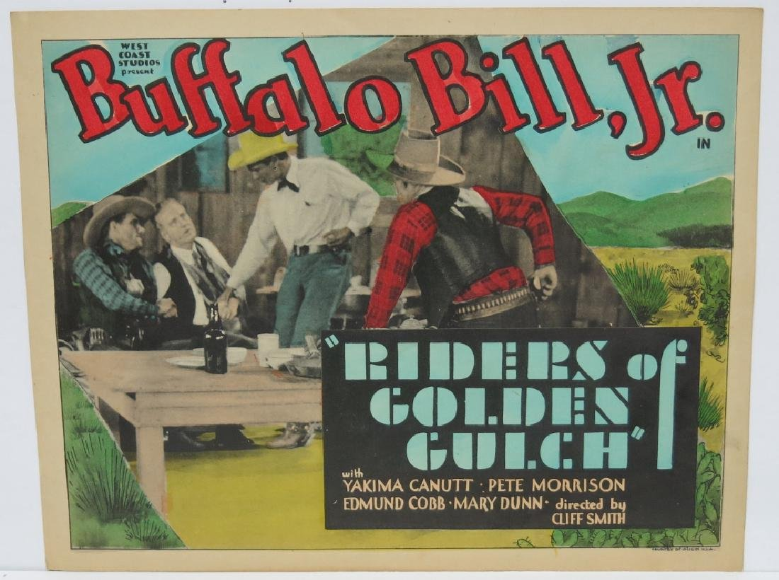 LOT OF 7 RIDERS OF THE GOLDEN GULCH LOBBY CARDS