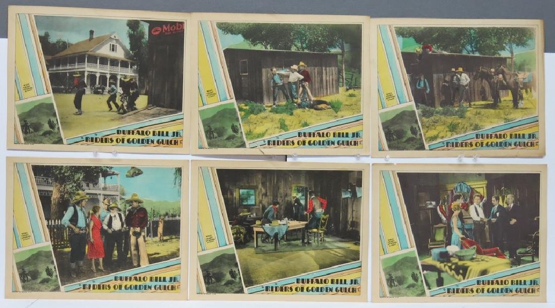 LOT OF 7 RIDERS OF THE GOLDEN GULCH LOBBY CARDS - 2