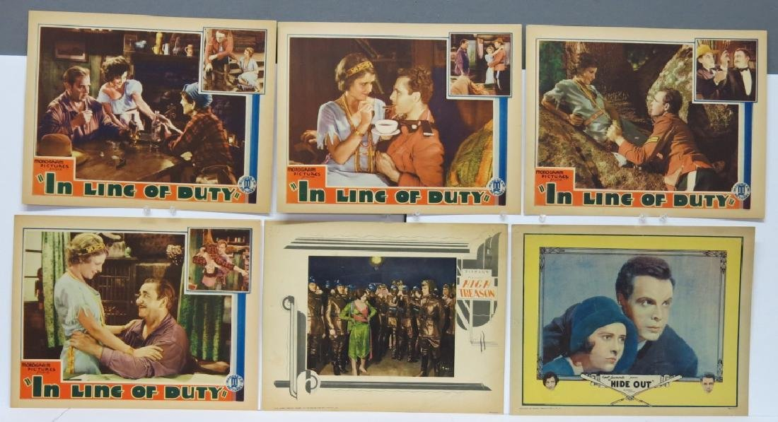 LOT OF 6 PRECODE MOVIE LOBBY CARDS