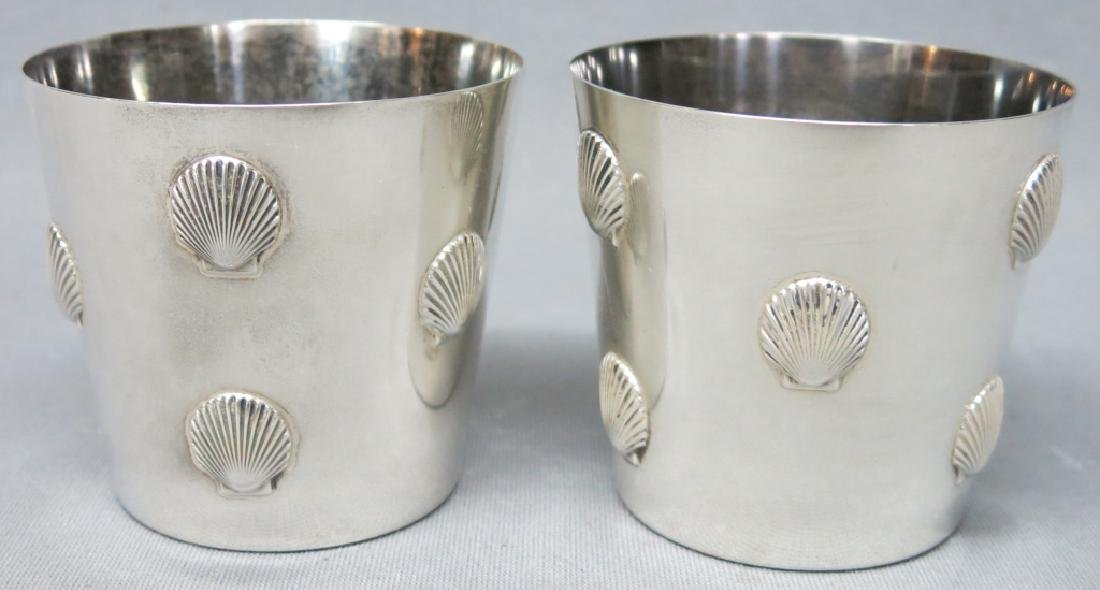 PAIR TIFFANY & CO. STERLING SILVER JULEP CUPS