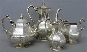 WILLIAM HUNTER STERLING SILVER TEA  COFFEE SET