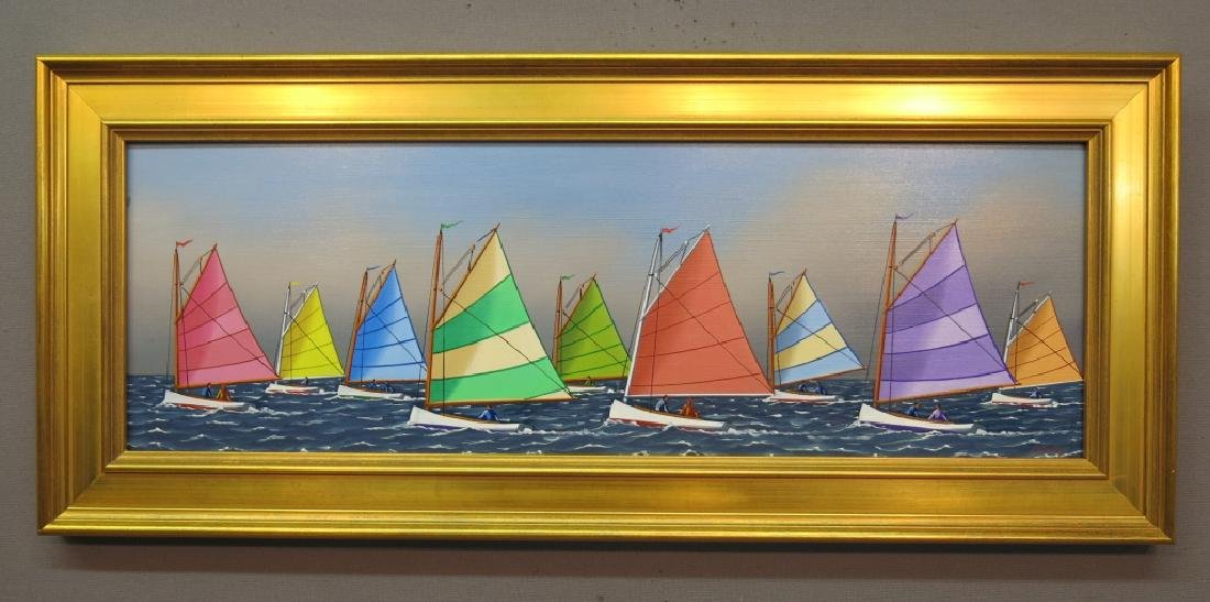 JEROME HOWES PAINITING OF THE RAINBOW FLEET