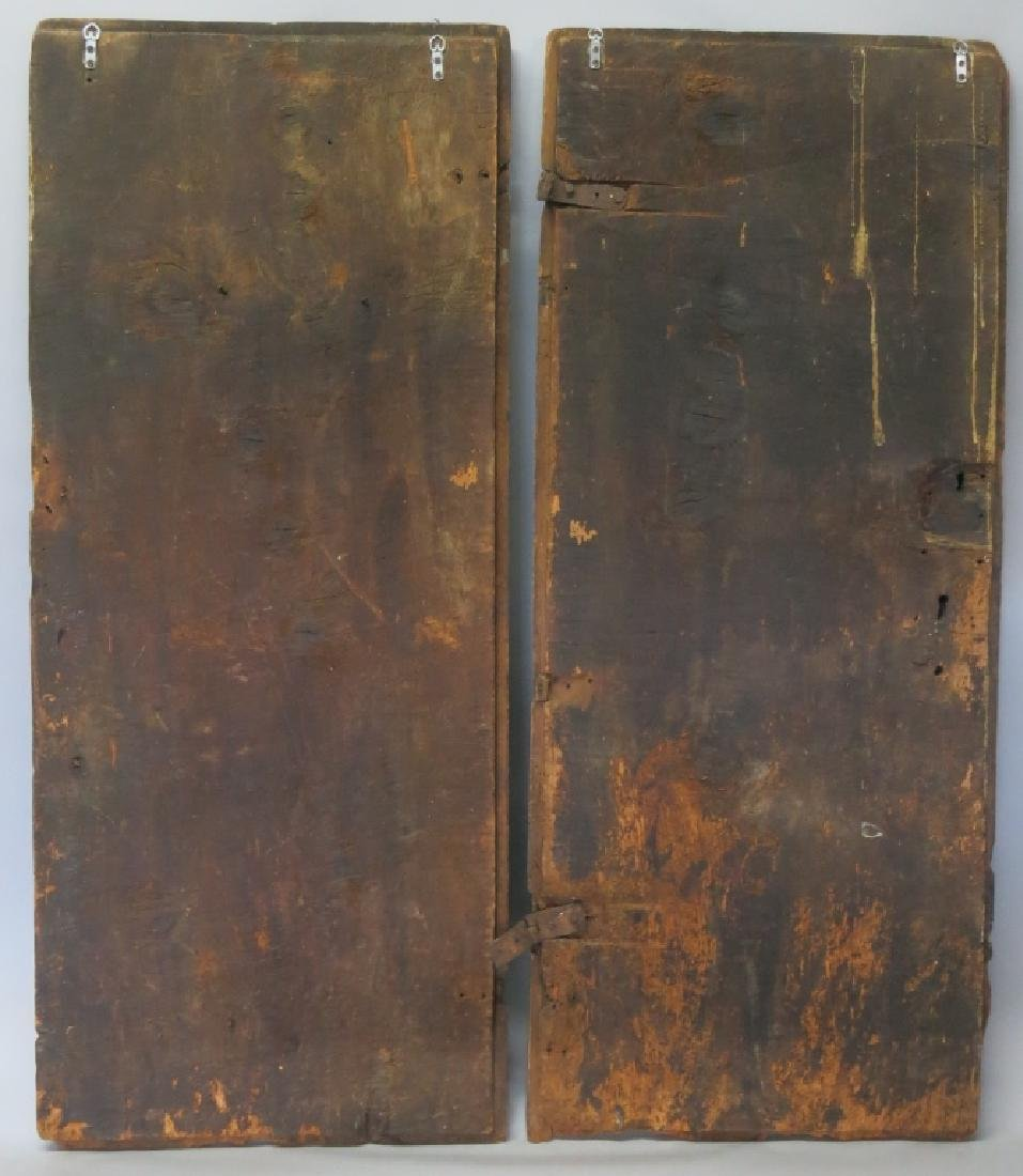 PAIR OF SPANISH COLONIAL CABINET DOORS, DATED 1536 - 2