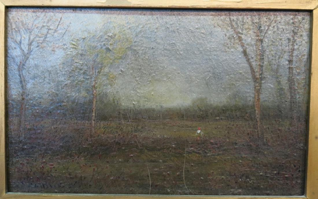 UNSIGNED IMPRESSIONIST OIL LANDSCAPE PAINTING - 2