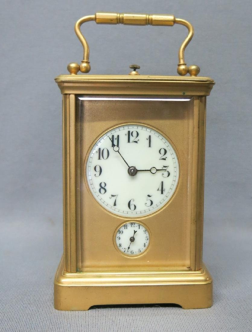 FRENCH POLISHED BRASS REPEATER CARRIAGE CLOCK