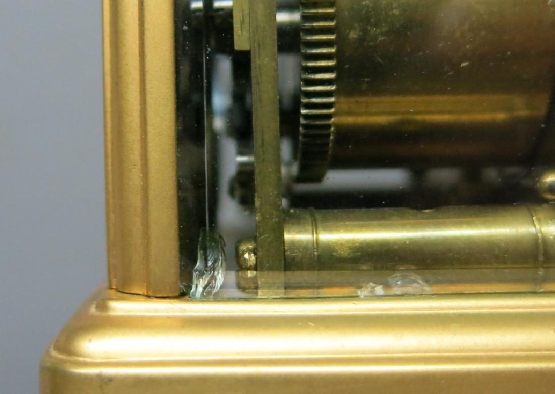 FRENCH POLISHED BRASS REPEATER CARRIAGE CLOCK - 4