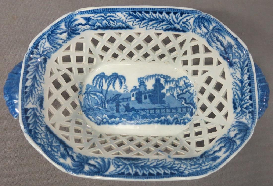 FENESTRATED STAFFORDSHIRE BASKET AND UNDERTRAY - 2