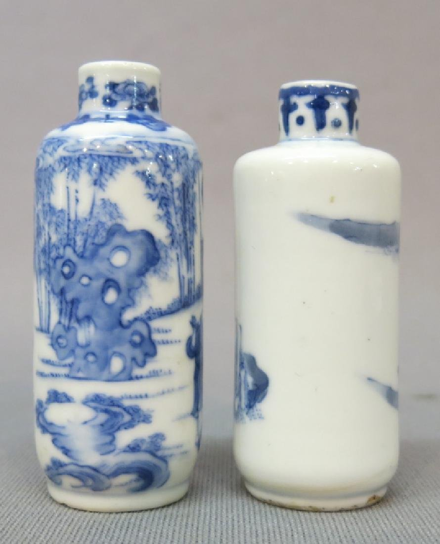 TWO CHINESE PORCELAIN SNUFF BOTTLES, ONE MARKED - 2