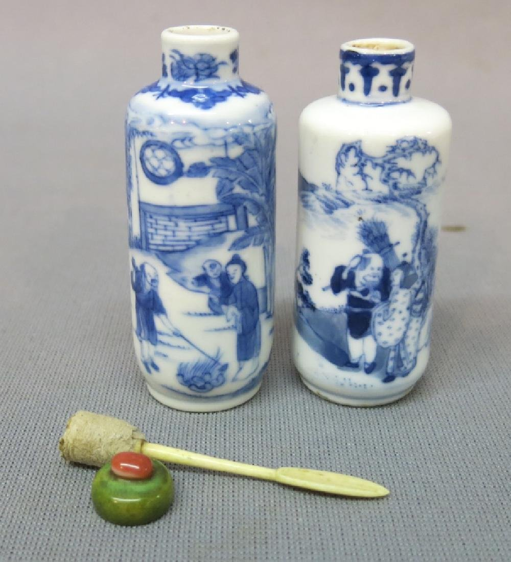 TWO CHINESE PORCELAIN SNUFF BOTTLES, ONE MARKED - 3