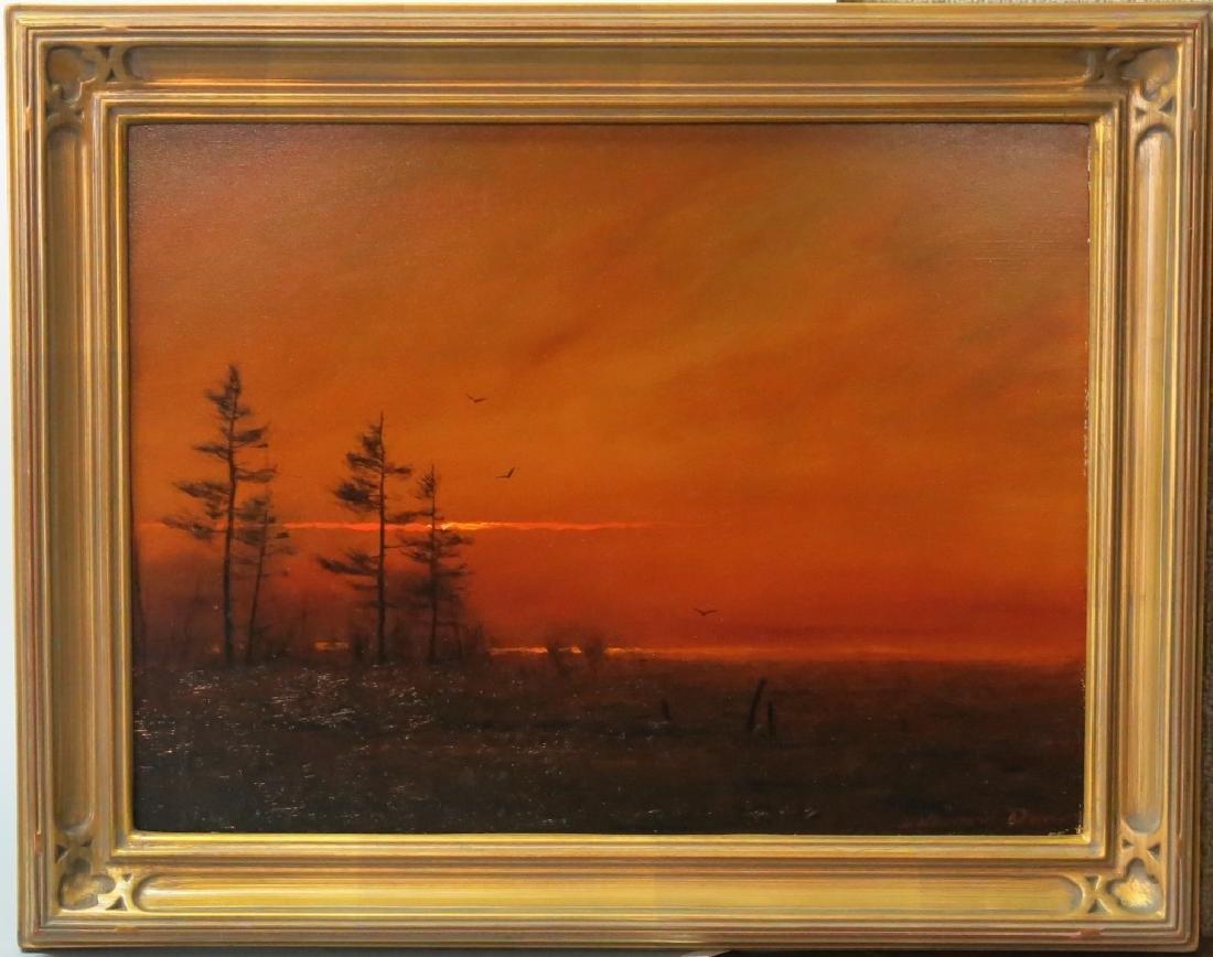 "WILLIAM R. DAVIS OIL ""DECEMBER SUNSET"""