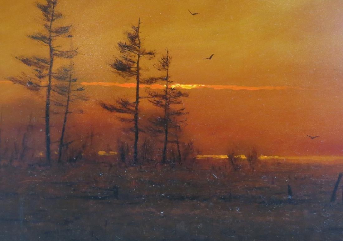 "WILLIAM R. DAVIS OIL ""DECEMBER SUNSET"" - 2"