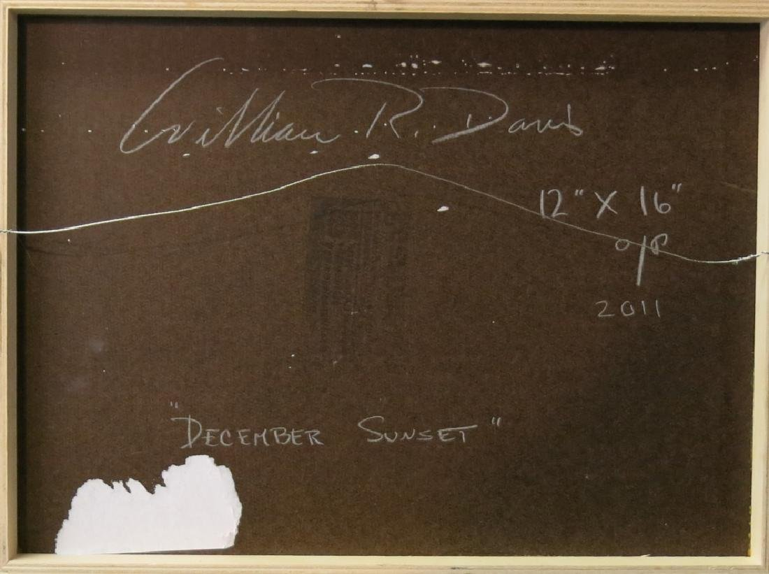 "WILLIAM R. DAVIS OIL ""DECEMBER SUNSET"" - 3"