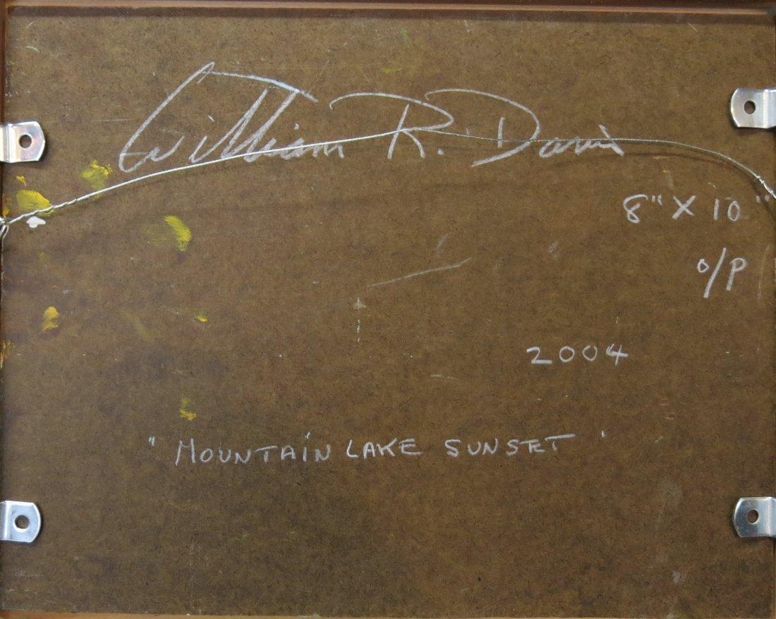 "WILLIAM R. DAVIS PAINTING ""MOUNTAIN LAKE SUNSET"" - 3"