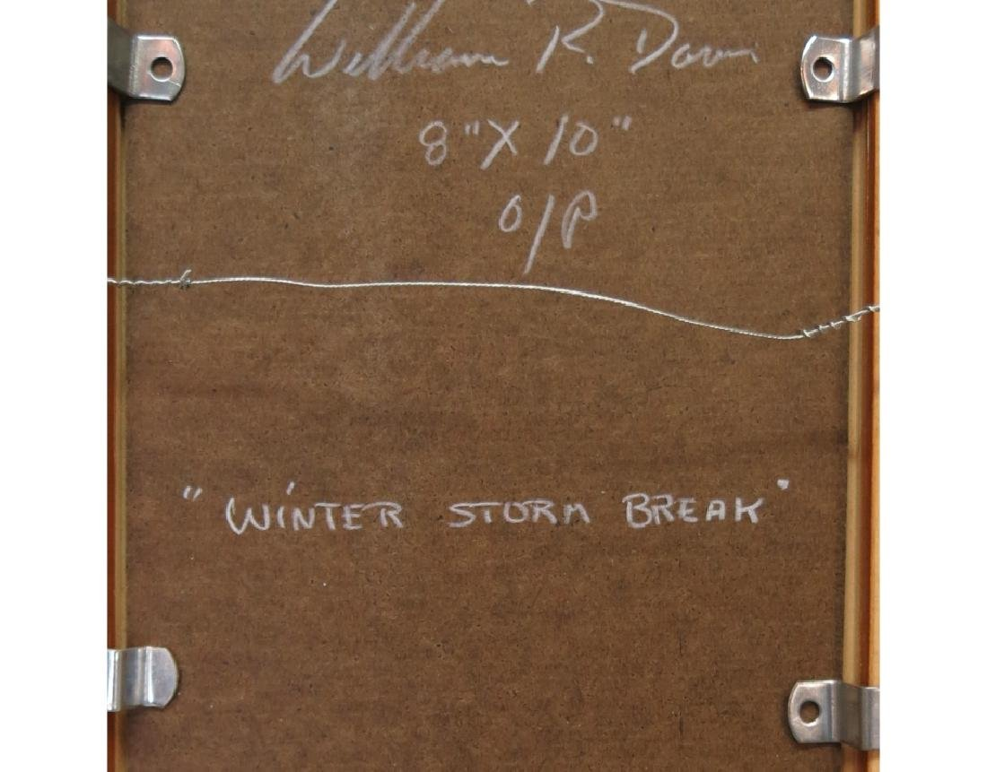 """WILLIAM R. DAVIS OIL PAINTING """"WINTER STORM BREAK"""" - 3"""