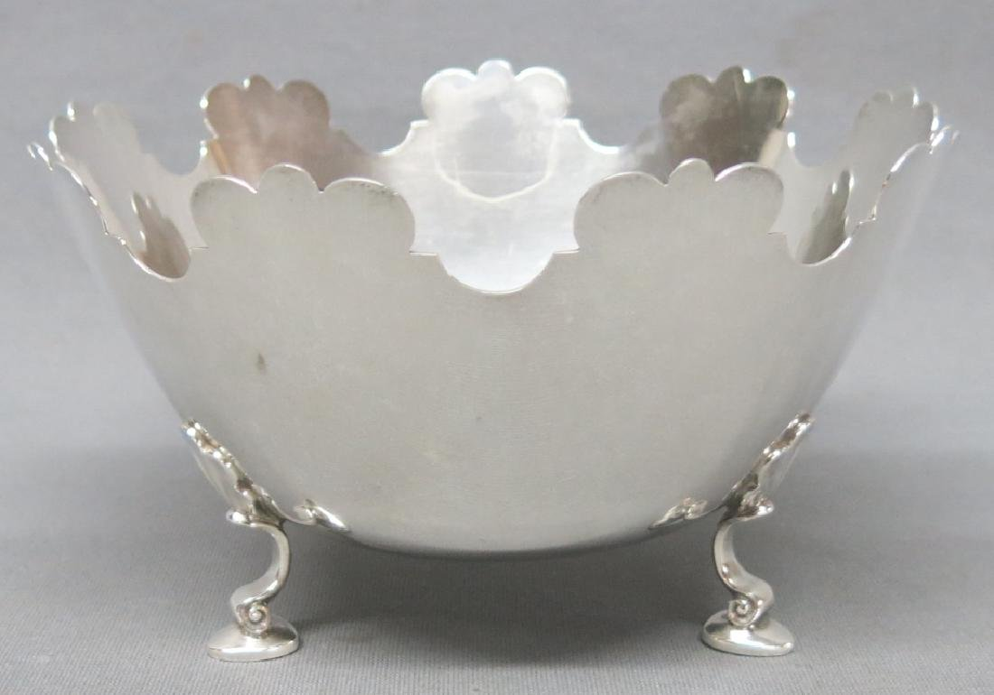 TIFFANY & CO STERLING SILVER FOOTED BOWL