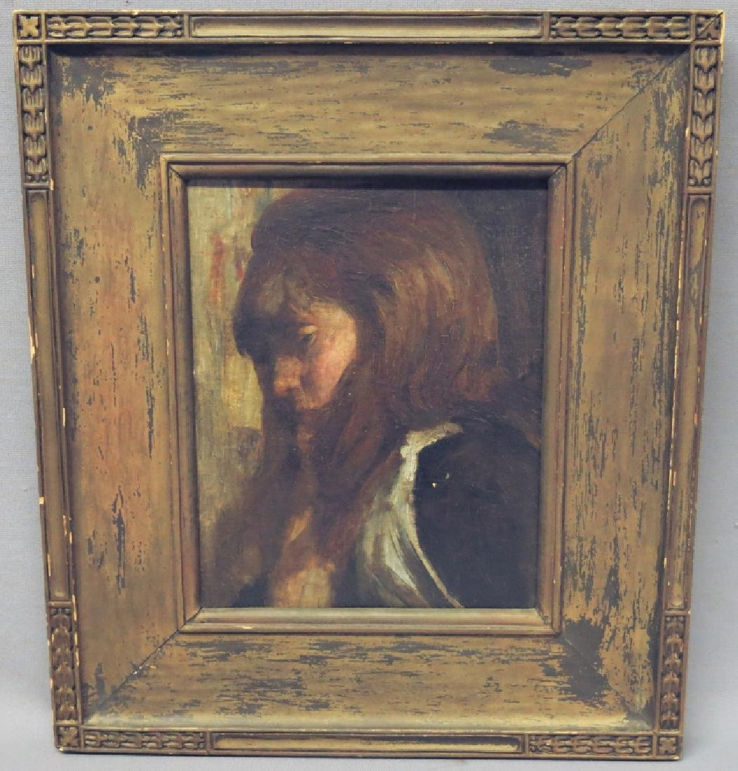 CLAUDE MARKS (ATTRIB.) OIL PORTRAIT OF YOUNG GIRL - 2
