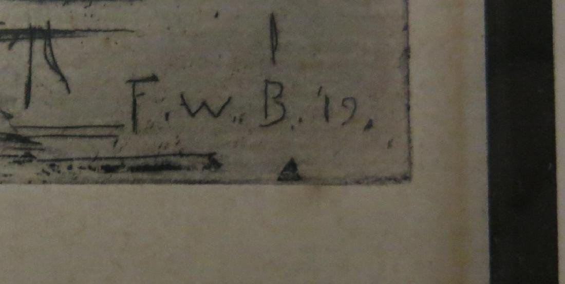 FRANK W. BENSEN PENCIL SIGNED ETCHING - 4