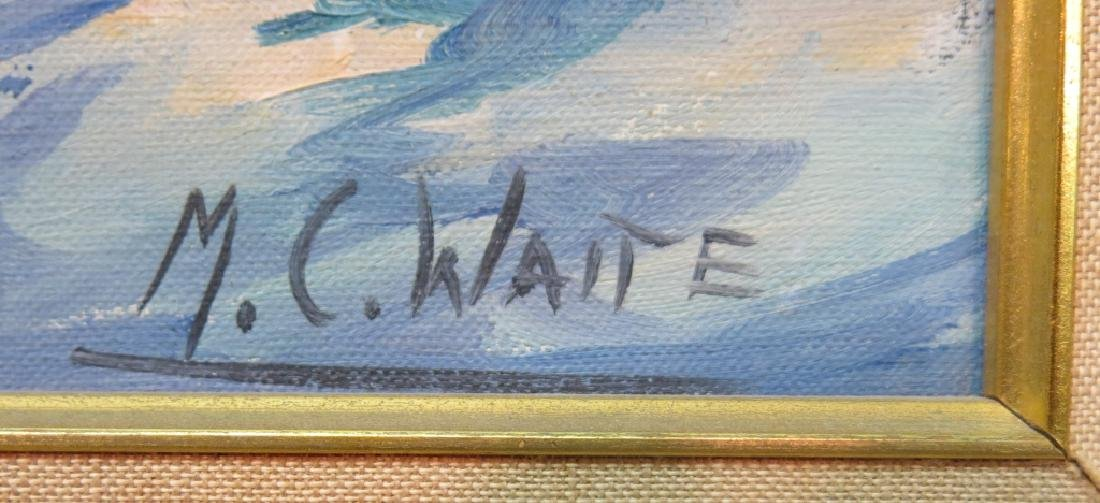 MALCOLM C. WAITE OIL PAINTING OF DRAMATIC SURF - 2