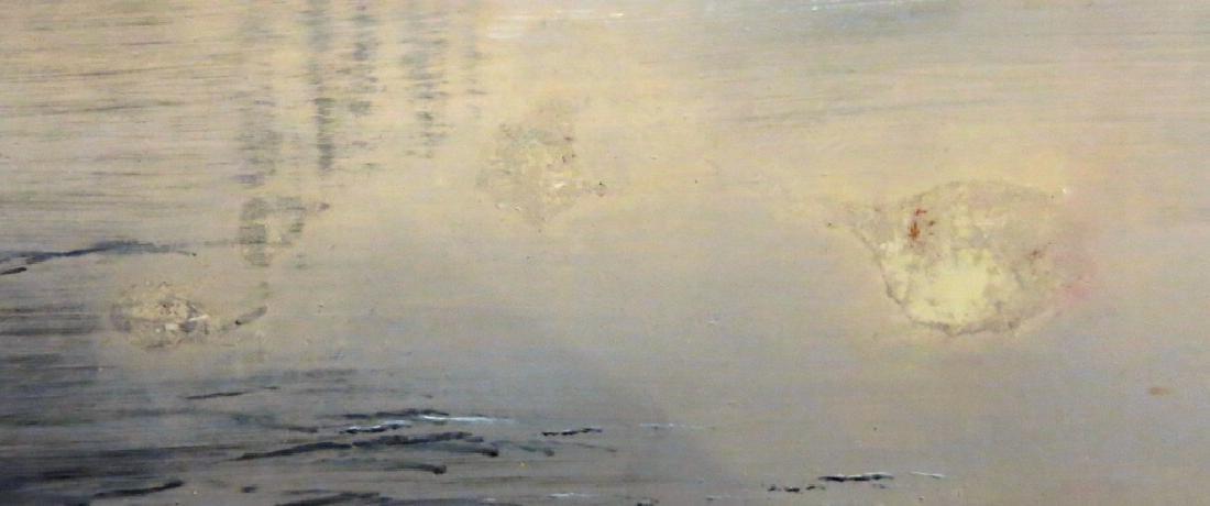 ROBERT HAMBLEN OIL PAINTING OF A RIVER SCENE - 3